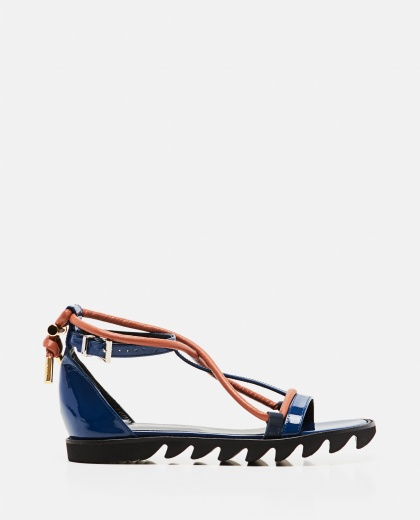 Flat sandals with contrasting straps Women Sacai 000301070044228 1
