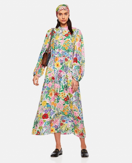 Ken Scott print silk dress Women Gucci 000287270042354 2
