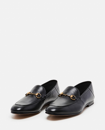 Leather moccasin with horsebit Men Gucci 000023000001265 2