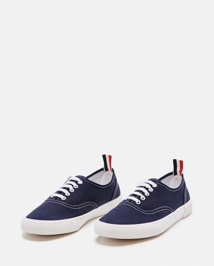 Cotton canvas sneakers Men Thom Browne 000294850043374 2