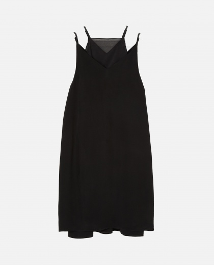 Double Layer Dress Black Women Loewe 000222660032955 1