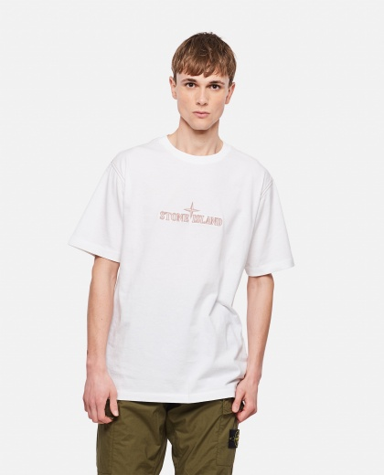 Cotton T-Shirt with embroidery Men Stone Island 000292710043106 1