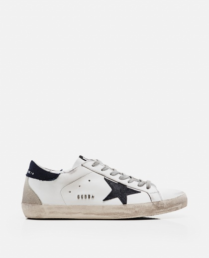 'Superstar' sneakers in leather and suede Men Golden Goose 000269320039698 1