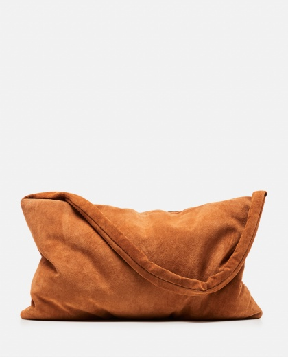Medium square tote bag in suede Donna Kassl Editions 000307700045086 1