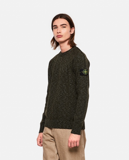 Crewneck sweater in wool