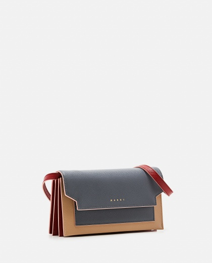 Leather wallet with shoulder strap Women Marni 000257230038003 2