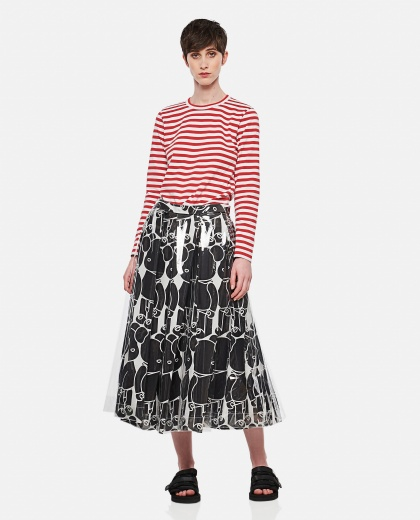 Cotton and striped sweater Donna Comme des Garcons 000316670046382 2