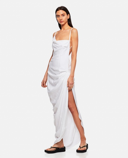 The Saudade longue robe Women Jacquemus 000302220044391 1