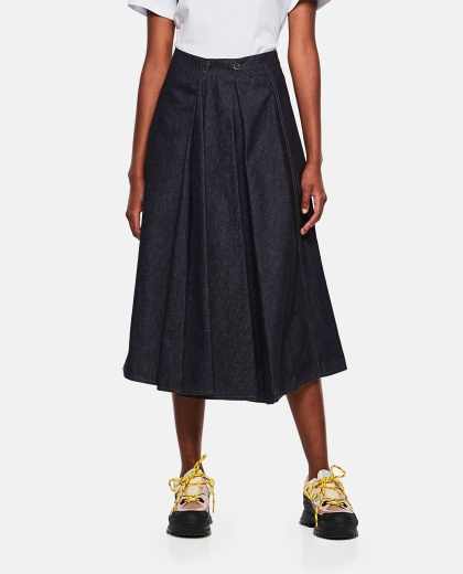 Cotton midi skirt Women Moncler 000272060040108 1