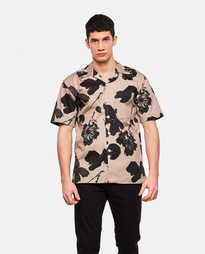 Shirt with floral print Men Alexander McQueen 000227310033582 1