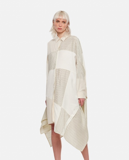 Oversized patchwork striped cotton dress Women Loewe 000307060045004 1