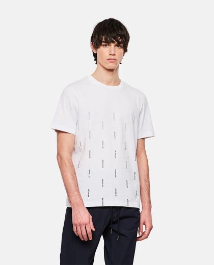 Multi-monogram print T-shirt Men Moncler 000308580045257 1