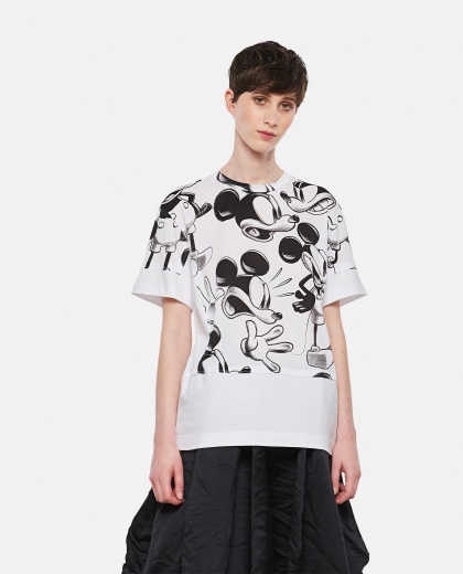 T-shirt con stampa Mickey-Mouse Donna Comme des Garcons 000316350046347 1