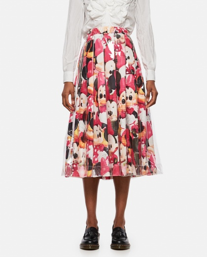 Minnie Mouse flared skirt with print Women Comme des Garcons 000316310046343 1