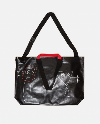 Oversized tote bag with print Women Plan C 000263450038949 1