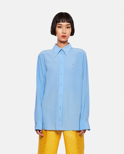 Crepe de Chine silk shirt
