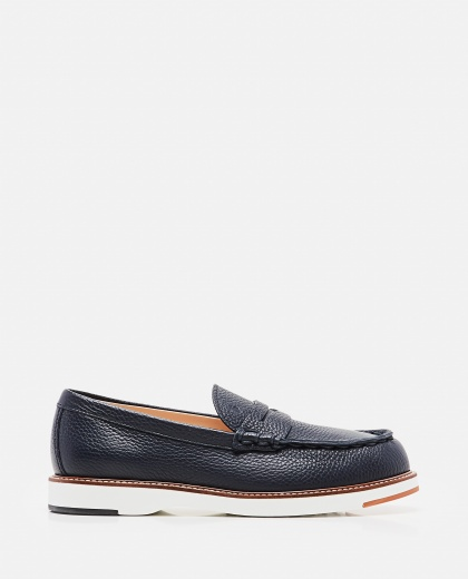 Hammered leather loafer Women Tod's 000297000043681 1