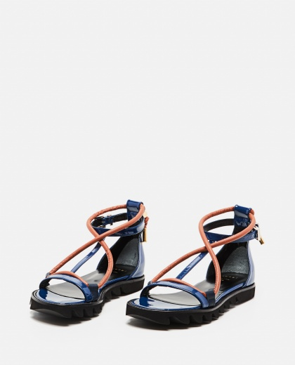 Flat sandals with contrasting straps Women Sacai 000301070044228 2