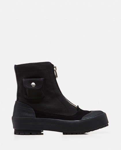 Duck  gabardine and suede  boots  Women J.W. Anderson 000302880044477 1