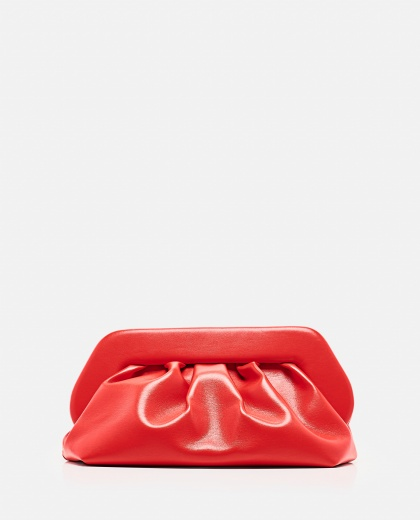 Smooth faux leather clutch
