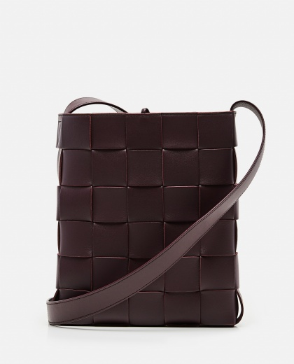 BORSA MESSENGER CASSETTE IN NAPPA INTRECCIATA Women Bottega Veneta 000285540042086 1