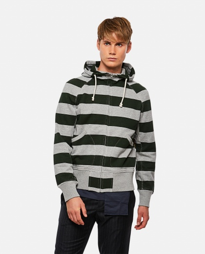 Sweatshirt with striped print Men Junya Watanabe 000270510039832 1