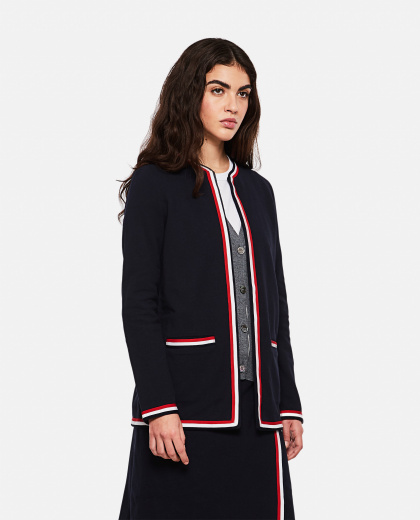 Cardigan with 4-stripe detail Women Thom Browne 000274890040475 1