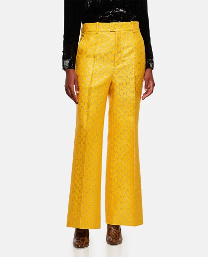 Wide-leg trousers in light GG lamé