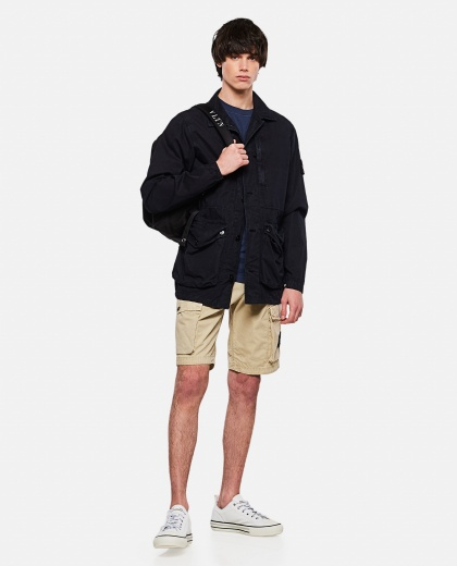 Brushed cotton canvas  cargo shorts  Men Stone Island 000292560043075 2