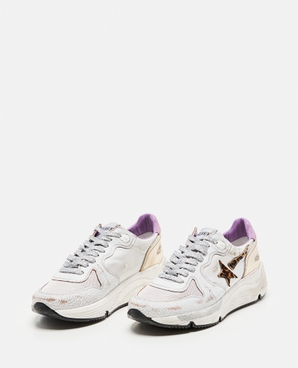 Golden Goose running sole sneakers in nylon and crackle leather Women Golden Goose 000286920042316 2