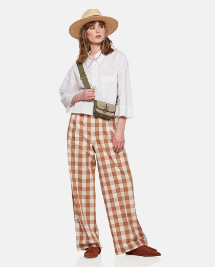 Trousers with check print Women Jejia 000306380044915 2