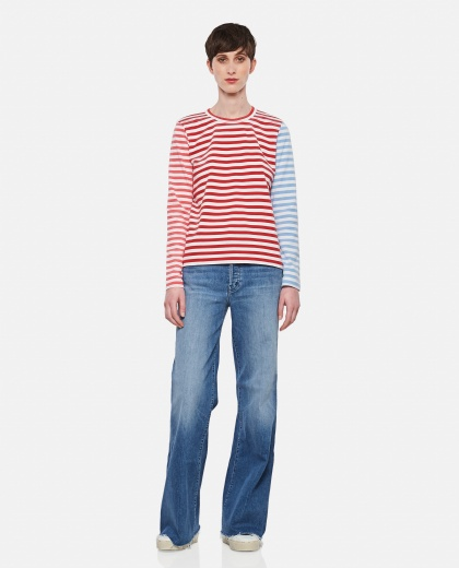 Cotton and striped sweater Donna Comme des Garcons 000316680046383 2