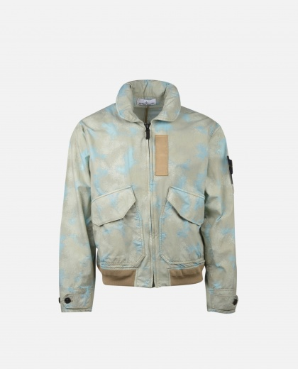 Spotted effect bomber Men Stone Island 000229800033884 1