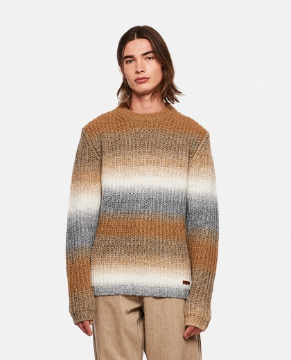 Wool and Alpaca blend pullover with degradé bands Men Golden Goose 000269570039723 1