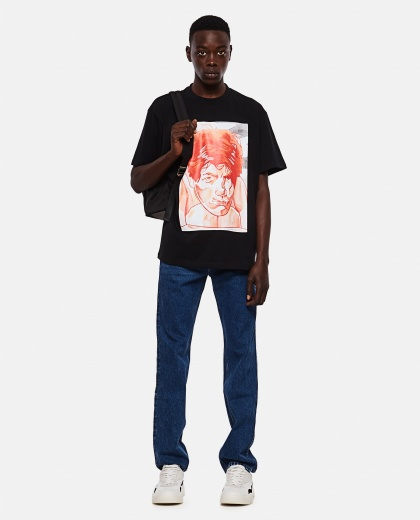 OVERSIZE T-SHIRT WITH PRINT Men J.W. Anderson 000293160043179 2