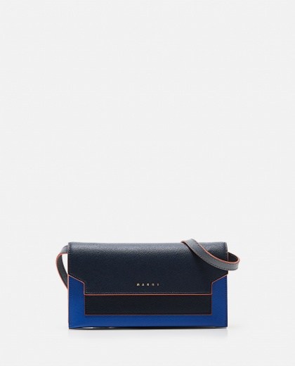 Leather wallet with shoulder strap Women Marni 000257230038013 1