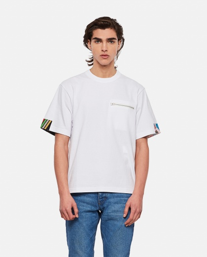 Cotton T-shirt with contrasting trim Men Sacai 000301160044249 1