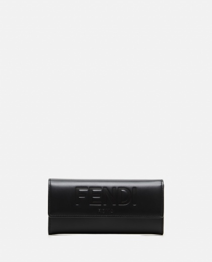 Continental wallet with embossed logo Women Fendi 000310940045595 1
