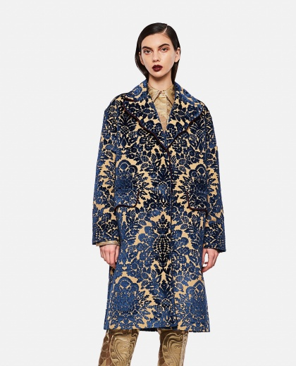 ARES BLUE FAIR COAT  TIZIANO GUARDINI FOR BIFFI BOUTIQUES Women Tiziano Guardini per Biffi Boutiques 000309260045366 1