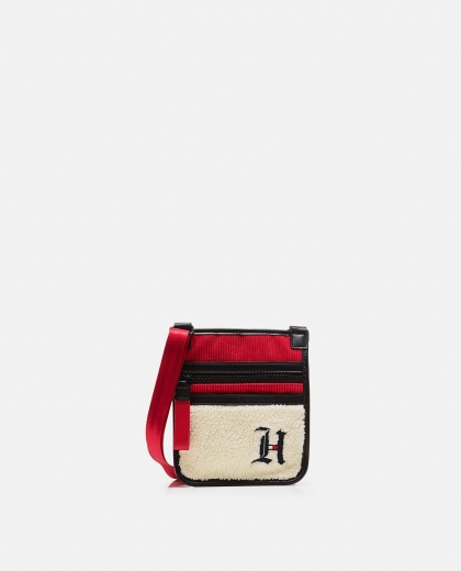 Lewis Hamilton shoulder bag with sherpa section