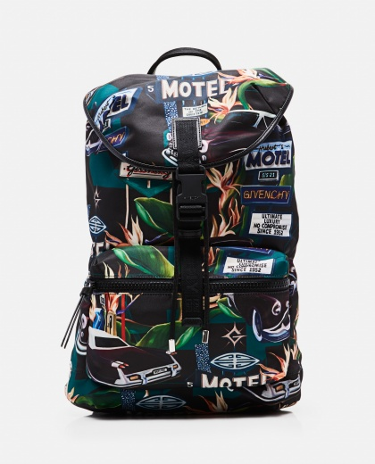 Light 3 nylon backpack with Motel print Men Givenchy 000301540044291 1