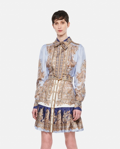 Shirt dress with paisley print Women Zimmermann 000307210045019 1