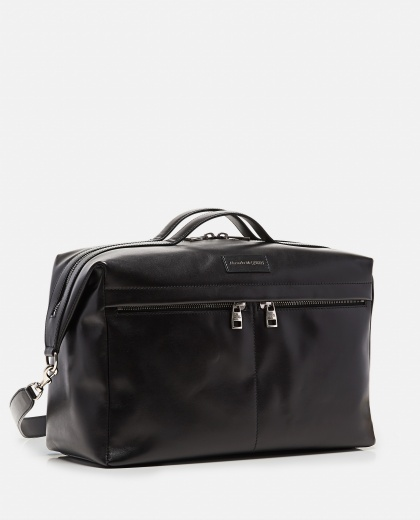 Smooth leather tote bag Men Alexander McQueen 000268880039640 2