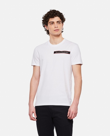 Cotton T-shirt with logo Uomo Alexander McQueen 000291080042855 1