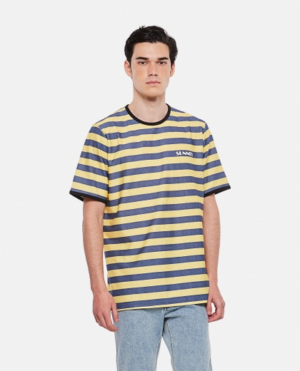 SUNNEI X BIFFI striped cotton t-shirt Men Sunnei x Biffi 000300310044145 1