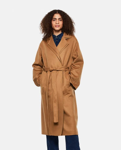 Wool and cashmere Double layer coat with belt  Women Loewe 000258520038198 1