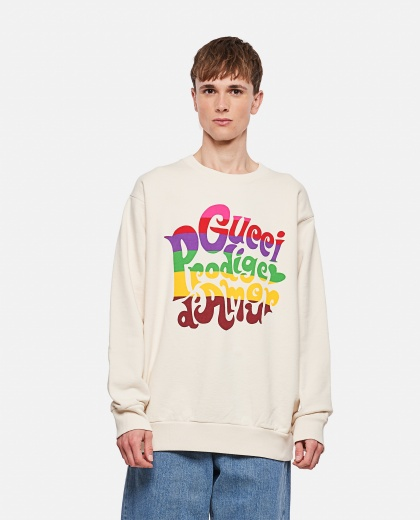 Sweatshirt with 'Gucci Prodige d'Amour' print Men Gucci 000293040043161 1