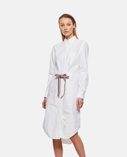 Chemisier dress with belt Donna Thom Browne 000295540043454 1