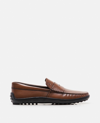 Loafers with rubber sole