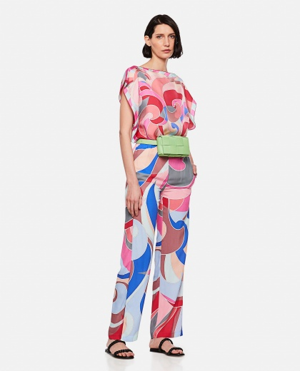 Wide leg trousers with geometric print Women Emilio Pucci 000295980043512 2